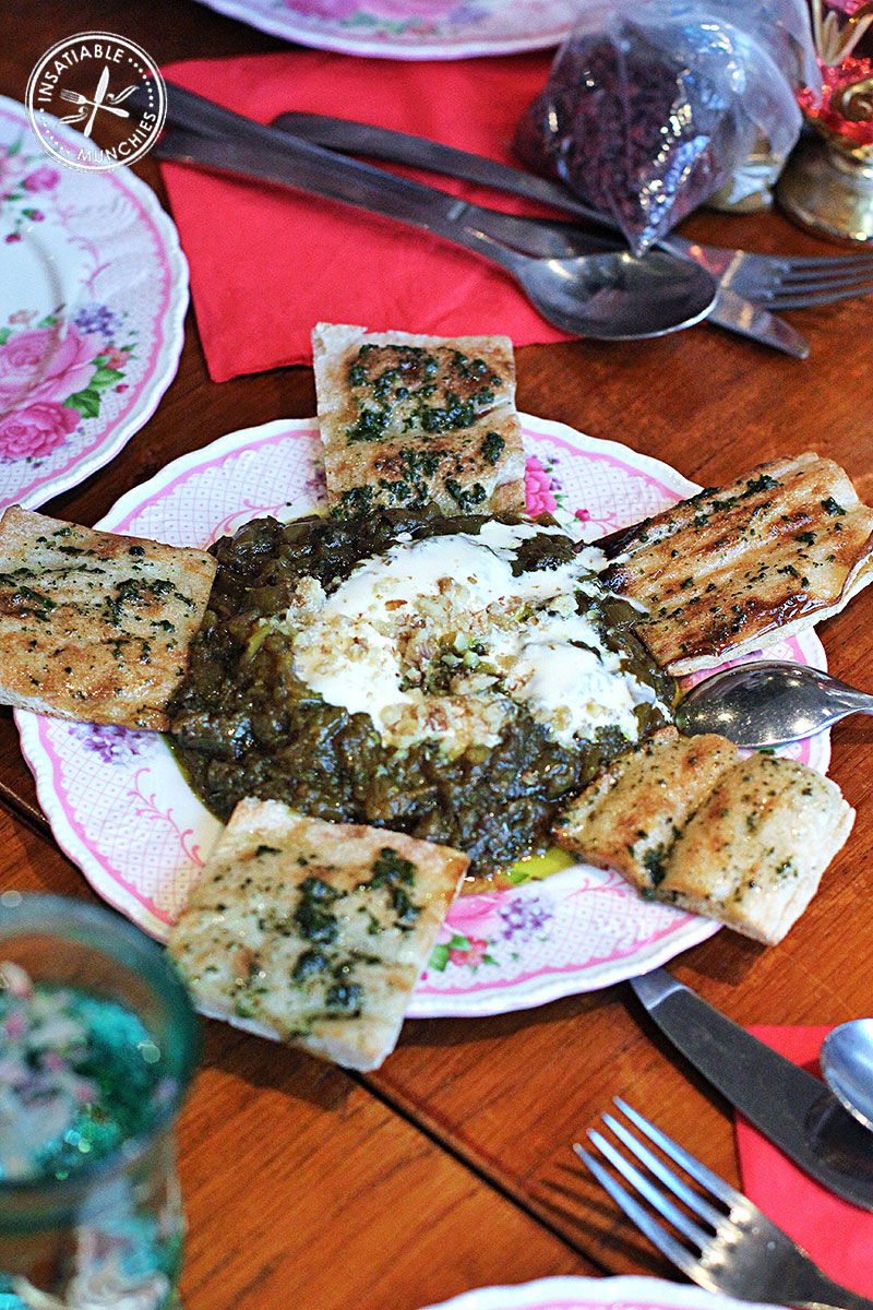 Eggplant and walnut dip with persian bread