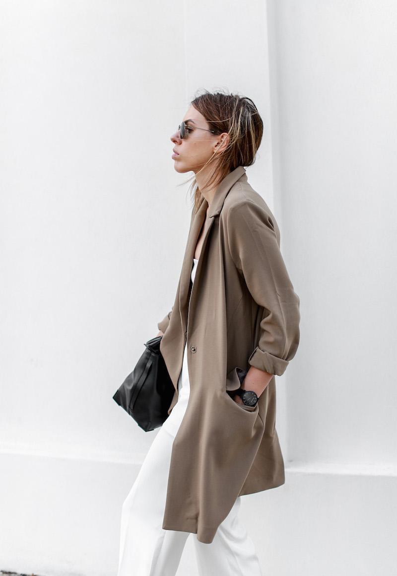 modern legacy fashion blog Australia street style ASOS camel boyfriend blazer Josh Goot white bandeau top culottes slide sandals inspo (8 of 10)