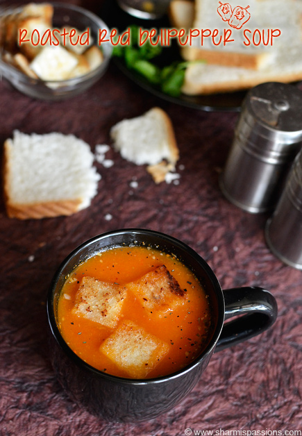 Roasted Red Bellpepper Soup Recipe