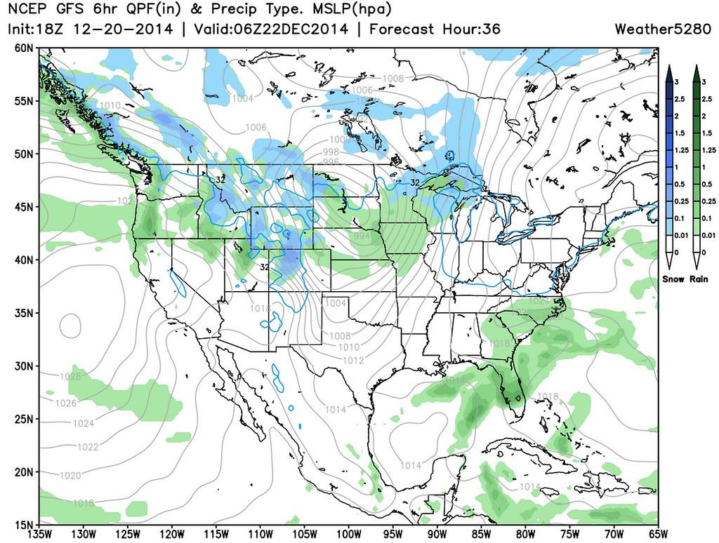 GFS precip forecast