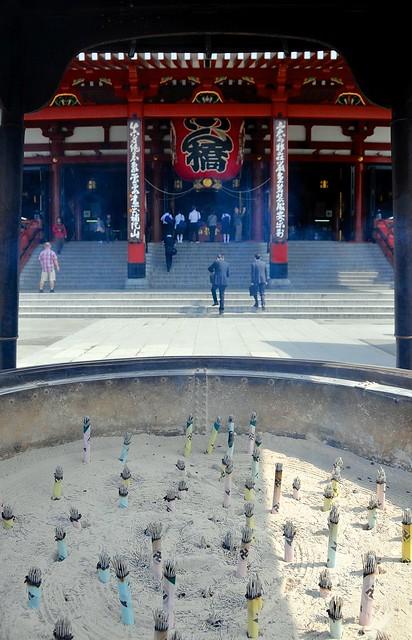 Sensoji and incense