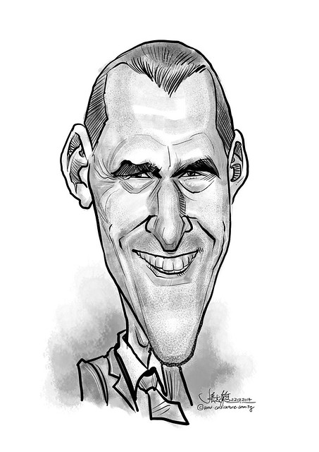 digital Keith Robson caricature for eBay