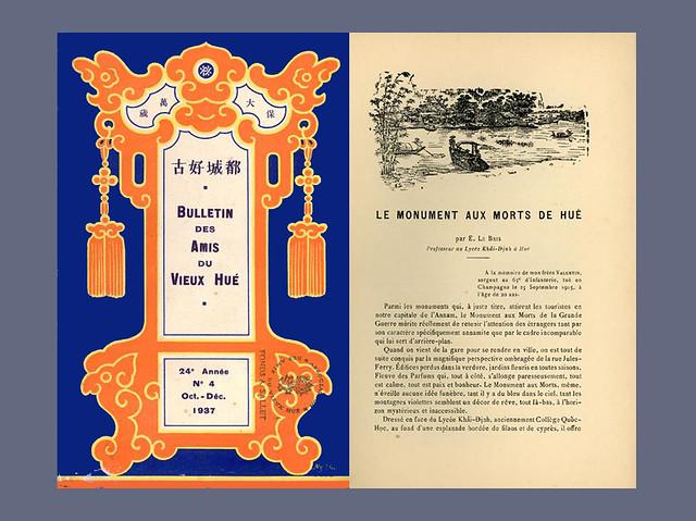Première de couverture du BAVH 1937/4 et première page de l'article d'Eugène Le Bris
