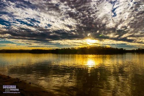 sunset sky lake reflection nature water clouds georgia unitedstates gainesville lanier lakelanier hallcounty thesussman sonyslta77 sussmanimaging