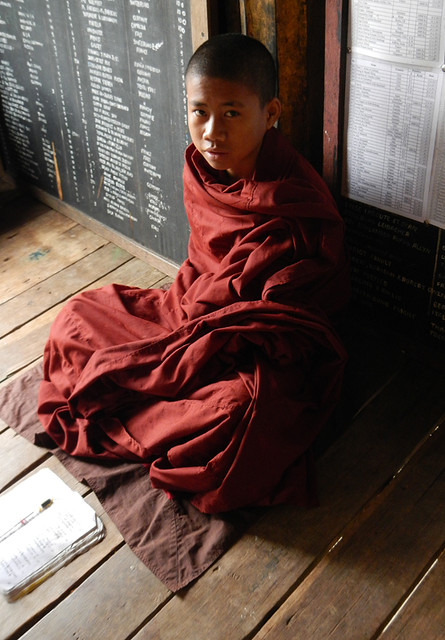 Child monks at an Inle Lake monastery