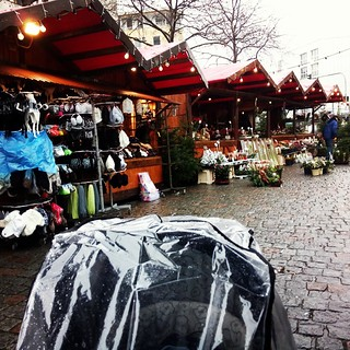 The first Christmas market for my little one but it was raining :/