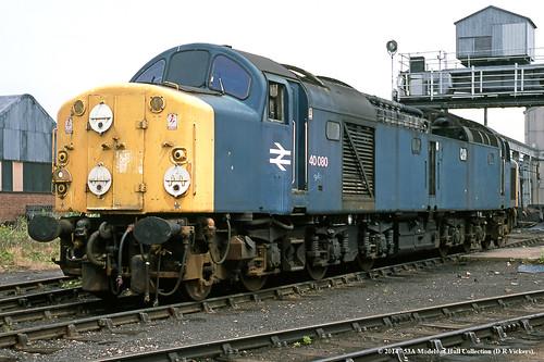 train diesel railway britishrail withdrawn doncaster southyorkshire brel class40 40080
