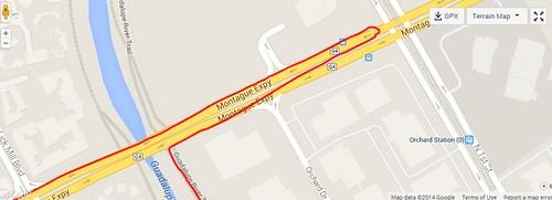 Montague Expressway Detour / U-turn