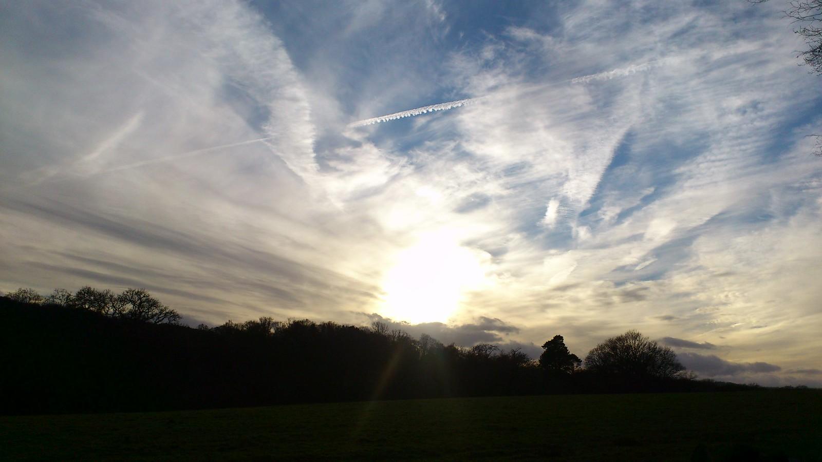 Skies over the Weald (Stonegate to Robertsbridge) Kipling's manor.