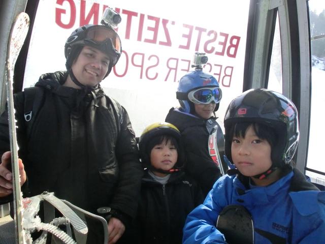 skiing, gondola, gopro