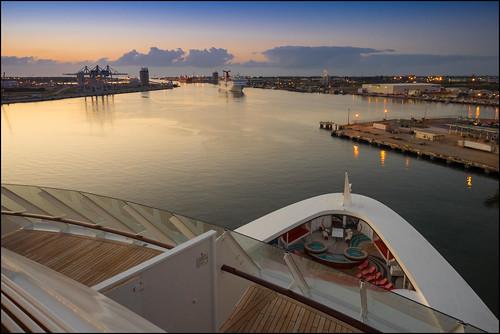 cruise vacation holiday sunrise sailing ship bahamas disneycruiseline portcanaveral disneydream