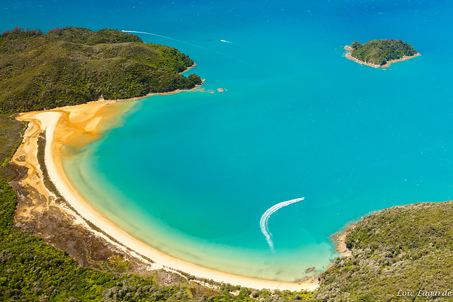 Aerial view of Abel Tasman National Park