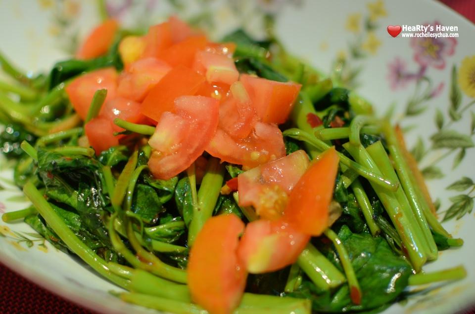 Kangkong with Tomatoes