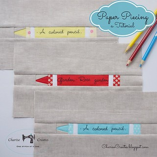 A beginning paper piecing tutorial is up on my blog.  Link in profile: ) #paperpiecing #PaperPiecedCrayon #ChariseCreates