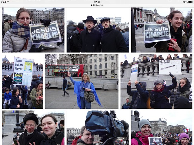 "I was there! Trafalgar Sq. ""Je suis Charlie"""
