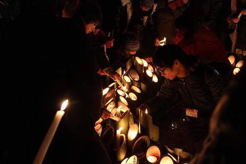 阪神大震災20年1.17の夜(2015.1.17)