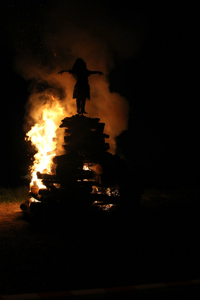 The pyre catches on pretty fast