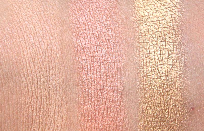 Estée Lauder summer glow eyeshadow palette swatch1