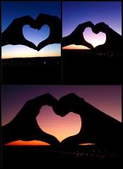 #heart #sunset #colors #blue #orange #pink #Guadalajara #Spain #field #love