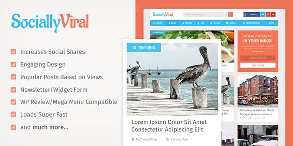 Mythemeshop SociallyViral v1.0.5 - Premium Wordpress Theme