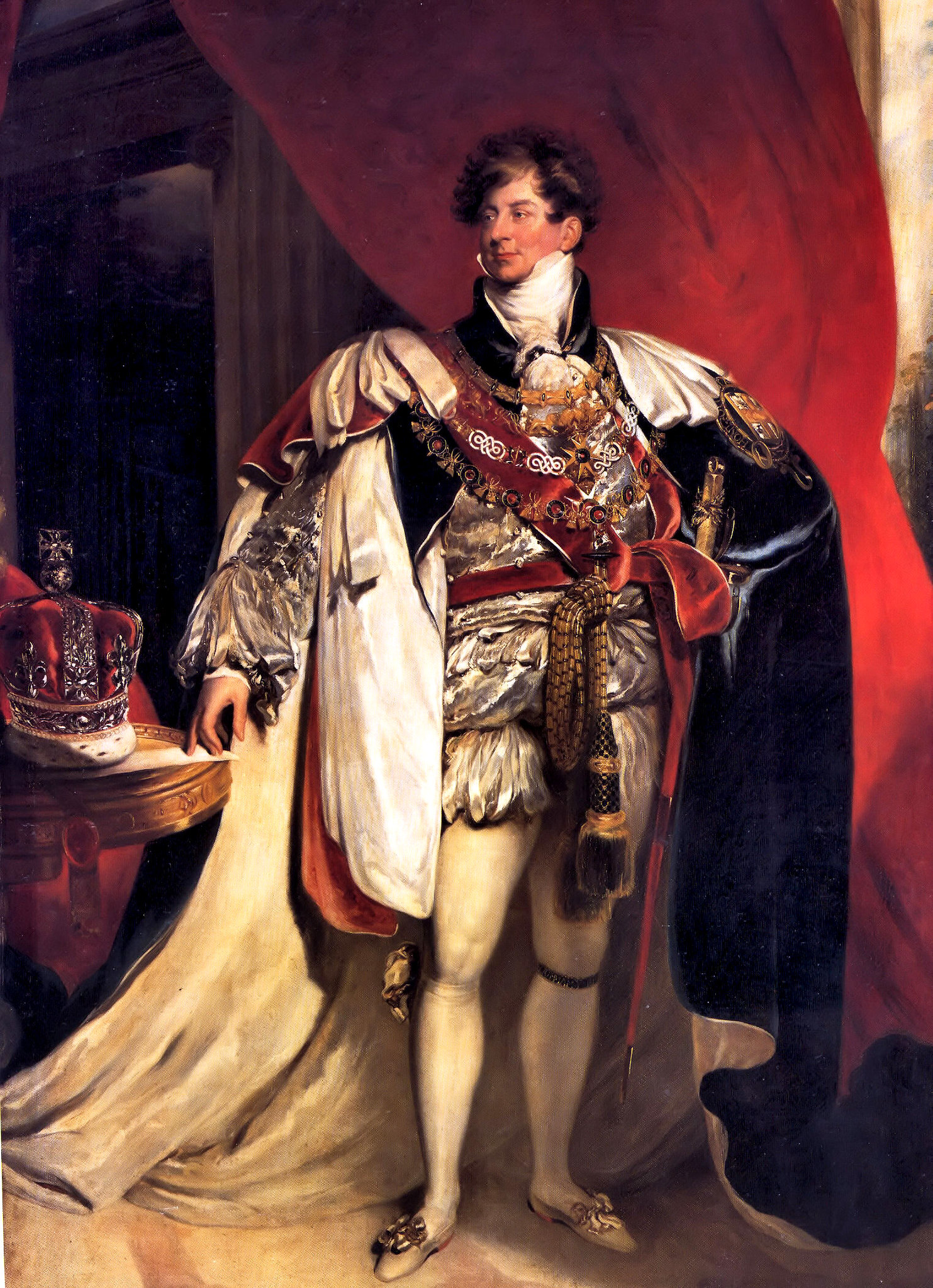 George, Prince Regent and Prince of Wales; later George IV by Thomas Lawrence, 1816