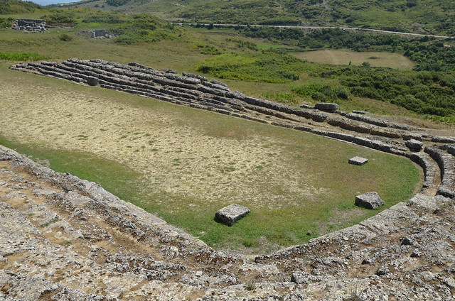 The Stadium built in the 3rd century BC, Amantia, Albania
