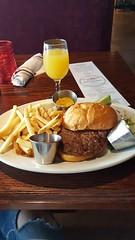 North Side Tavern burger and mimosa