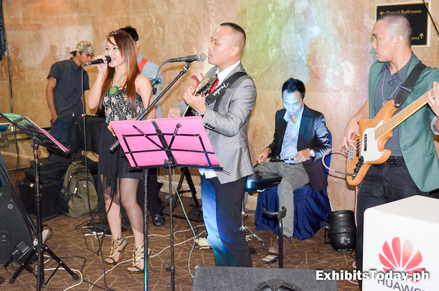 Music band playing at the Huawei ICT Carnival Philippines 2014 cocktail party