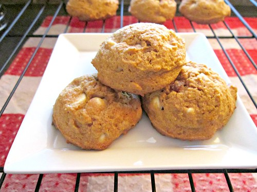 Pump White Choc Cookies