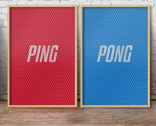 Ping Pong double posters by NOT MY TYPE