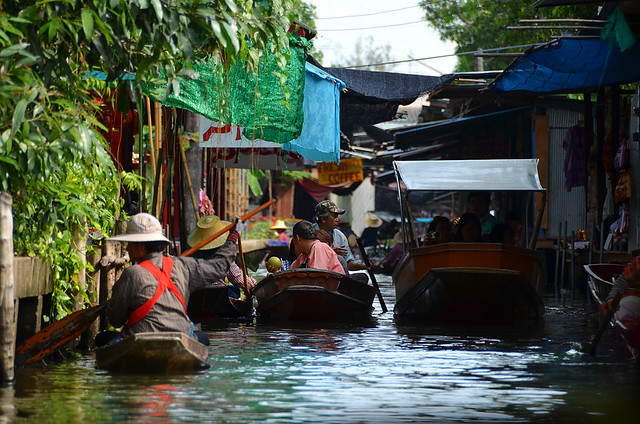 Damnoen Saduak y sus canales repletos de agua