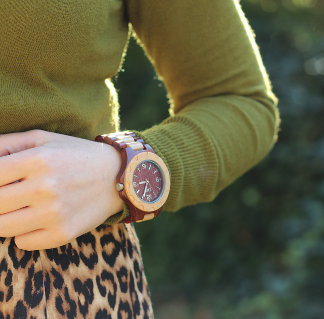 JORD Women's Wood Watch in Cherry and Maple Woods