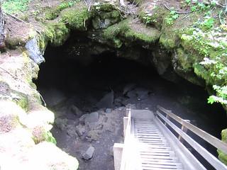 Ice caves near Trout Lake.  Washington.