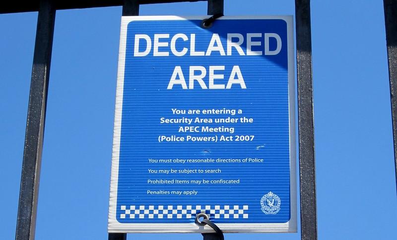 APEC signage, Sydney