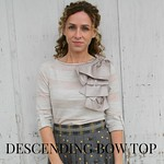 how to make the anthropologie shoulder bow top tutorial via Kristina J blog