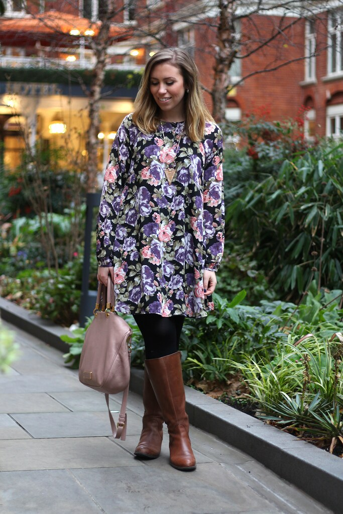 Floral Dress in London | #LivingAfterMidnite