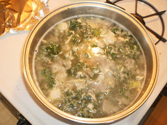 11/15/2014: Chicken kale orzo soup