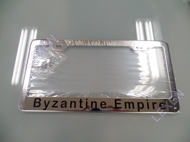Custom Printed Chrome Stainless Steel Metal License Plate