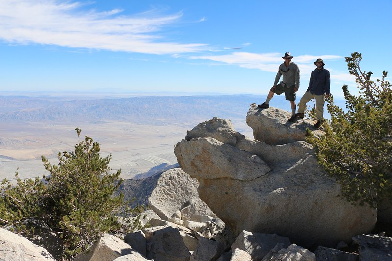 Looking northeast into the desert as we climb San Jacinto Peak from Folly Peak