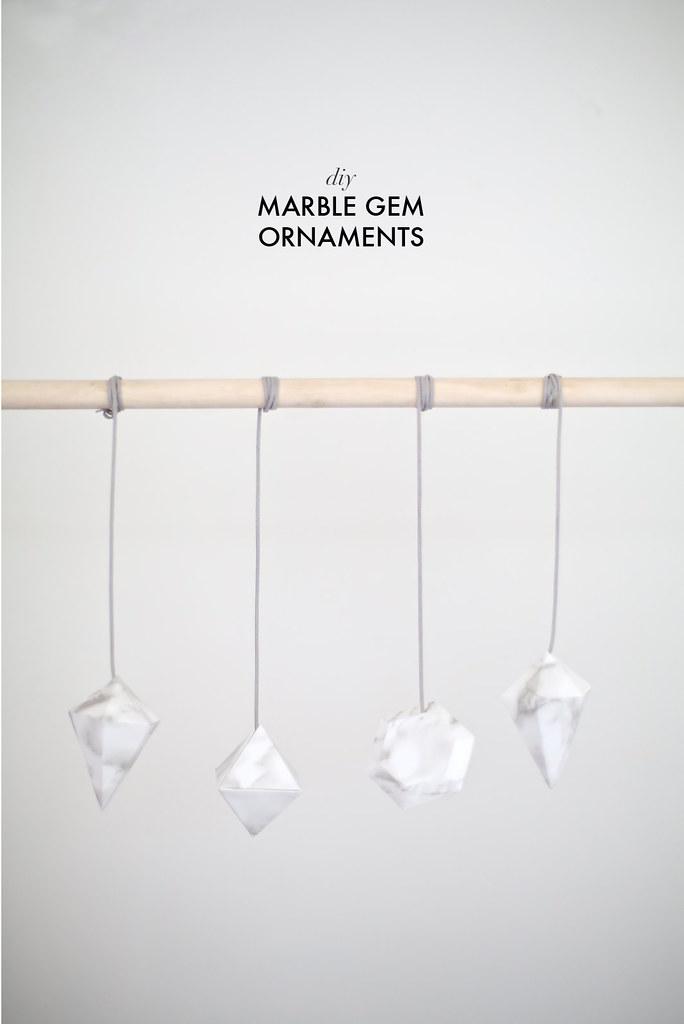 DIY marble gem ornaments www.apairandasparediy.com