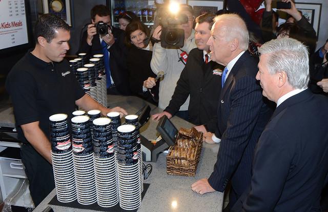 Biden at Capriottis
