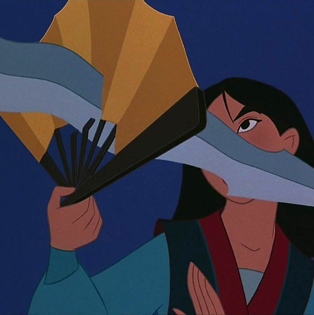 mulan sword through fan