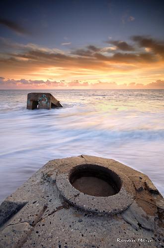 sunset mer seascape landscape nikon ngc sigma bretagne lee 1020mm filters plage sud décembre blockhaus bzh finistère 2014 trévignon d7100 tregunc penloch