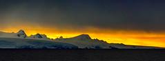 Sunset over the Antarctic Mainland