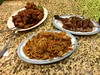 Combination Lo Mein, General Tso Chicken and Roasted Duck.