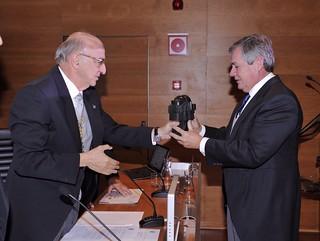 Jorge Sendagorta recoge el premio de la RAI.