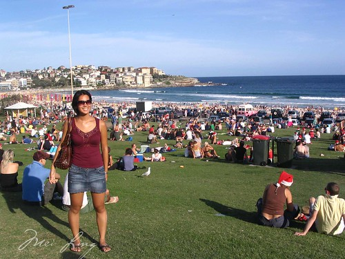 Mei spending Christmas Day at Bondi Beach