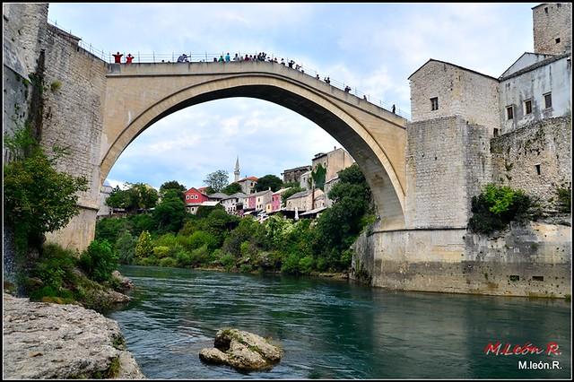 Bridge of Mostar (Bosnia-Herzegovina) .