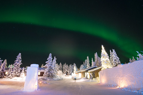Northern Lights at the Icehotel