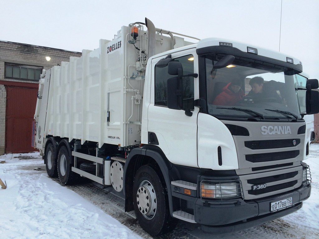 мусоровоз на шасси Scania P360
